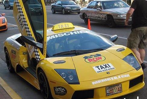 兰博基尼囧 迪拜的出租车囧 相册 测试窝高清图片